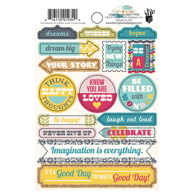 Fancy Pants - What a Wonderful Day - Label Stickers